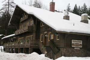The Belton Chalet with its winter coat.