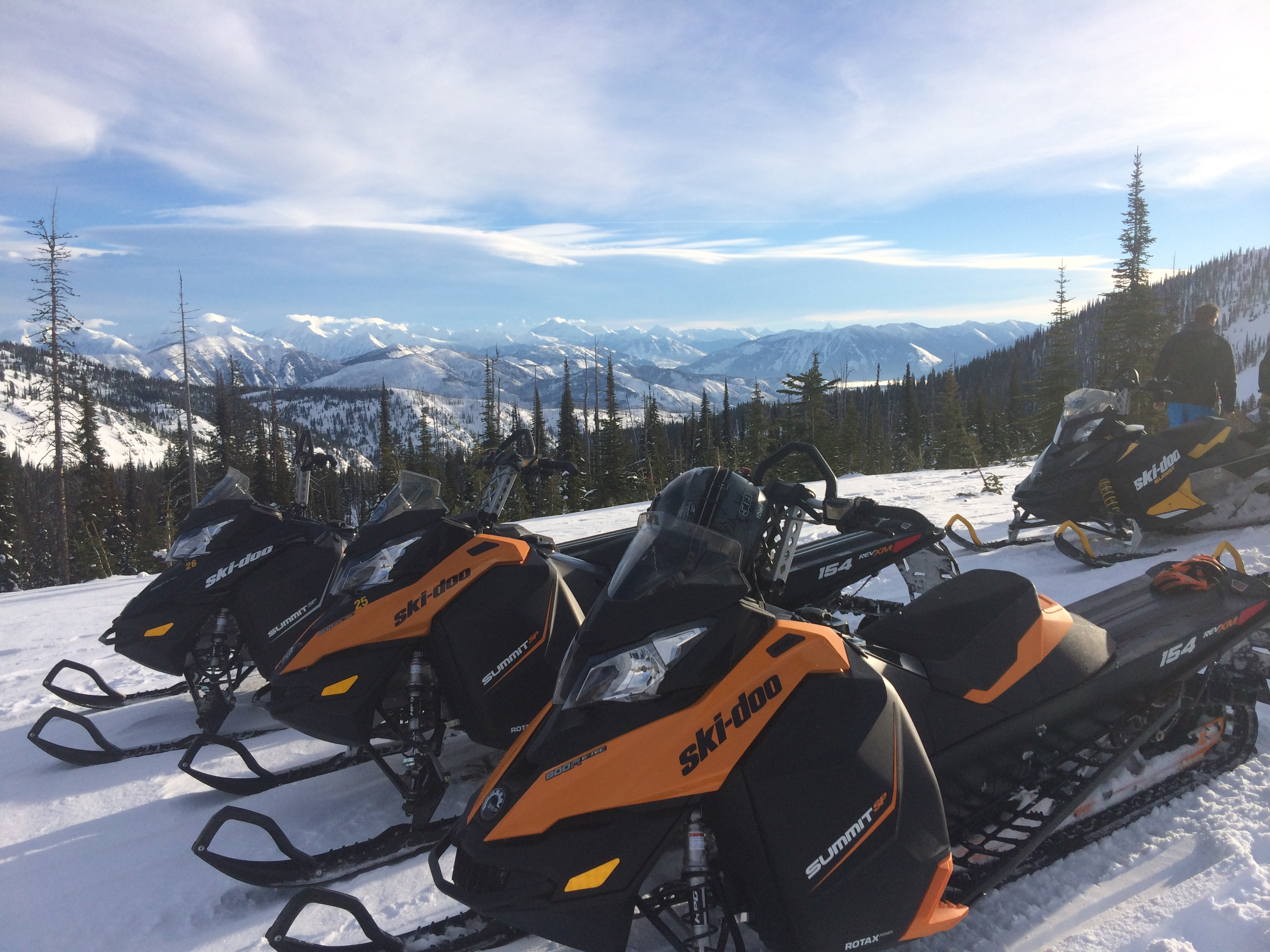 Skidoo Fleet Swan Mountain Snowmobiling